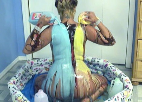 Lexxi bathes in colorful milk
